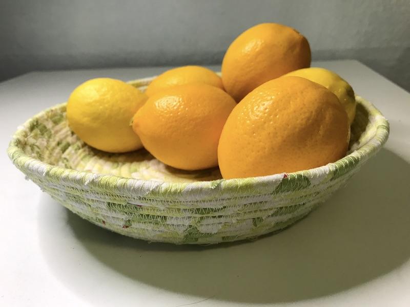 Citrus fabric basket