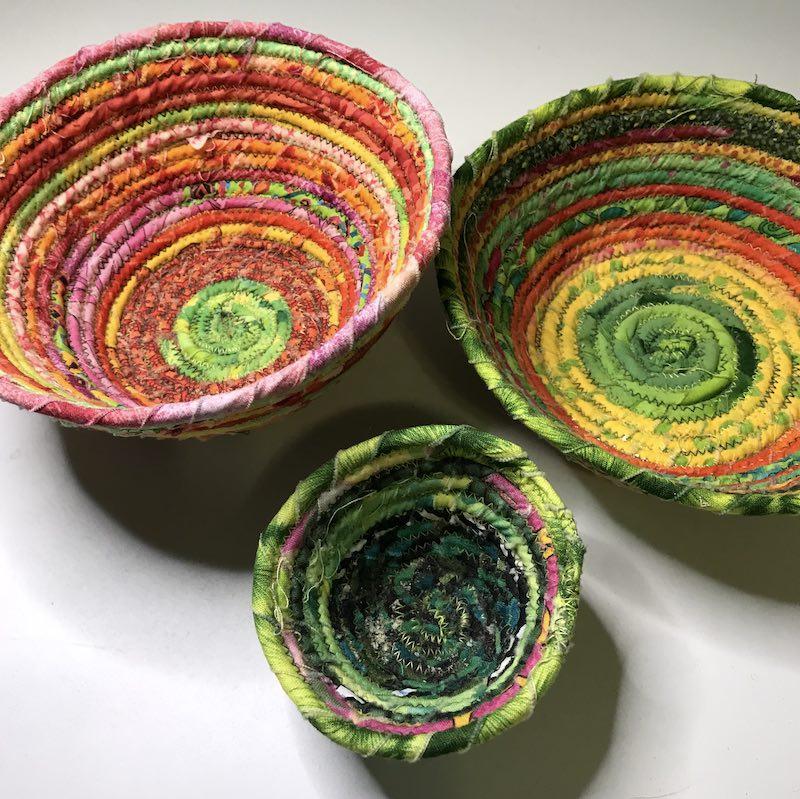 Fabric basket trio top down
