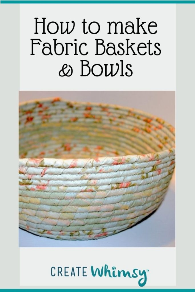 Fabric baskets & bowls Pin 1