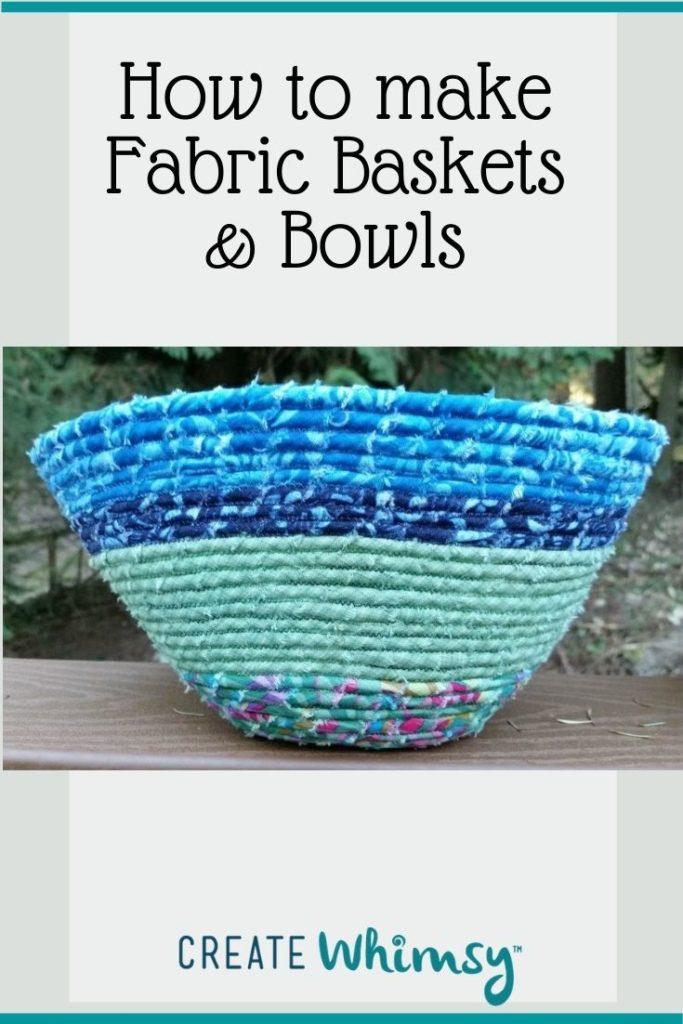 Fabric baskets & bowls Pin 3