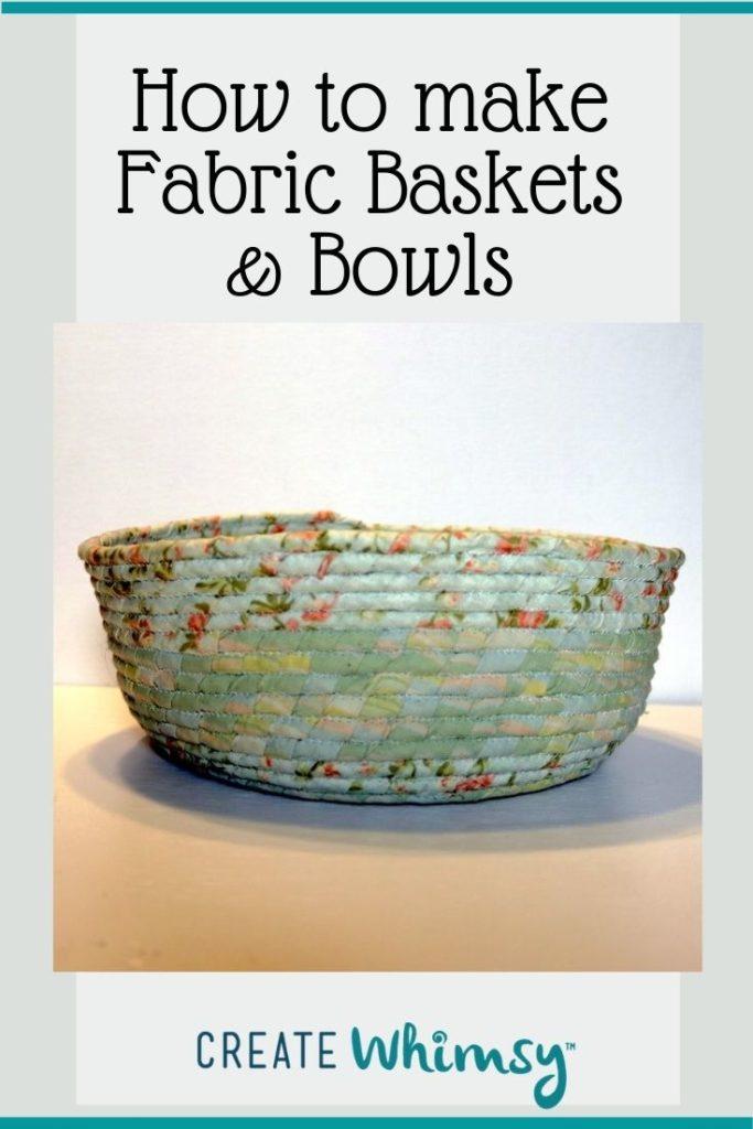 Fabric baskets & bowls Pin 4