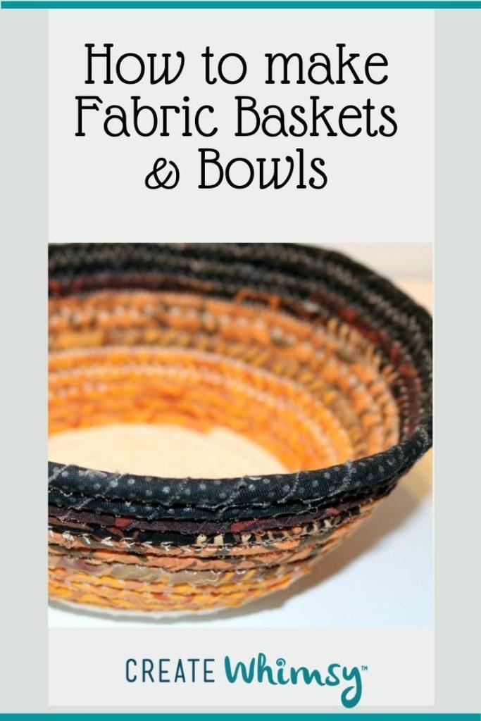 Fabric baskets & bowls Pin 5