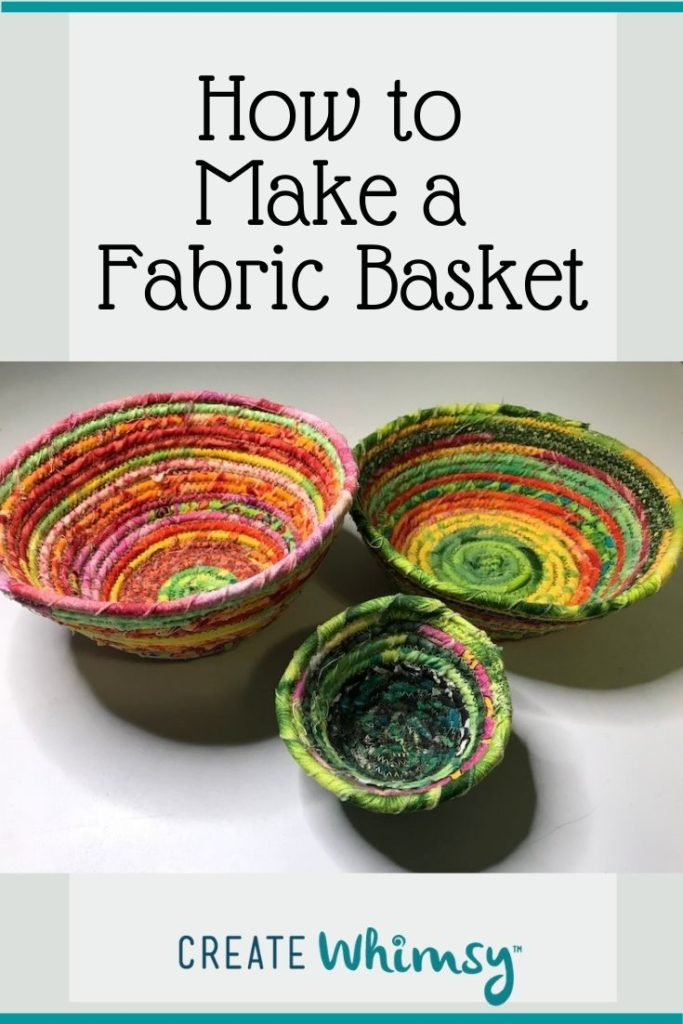 How to make a fabric basket Pinterest 1