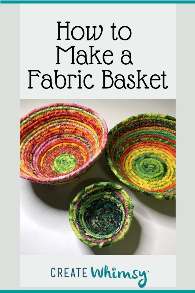 How to make a fabric basket Pinterest 2
