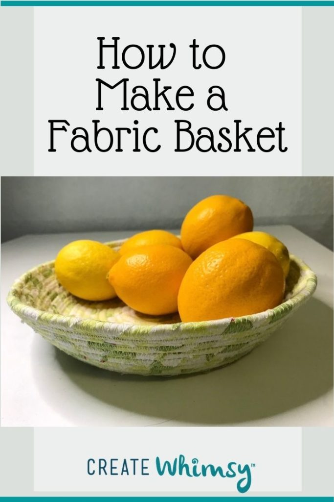 How to make a fabric basket Pinterest 3