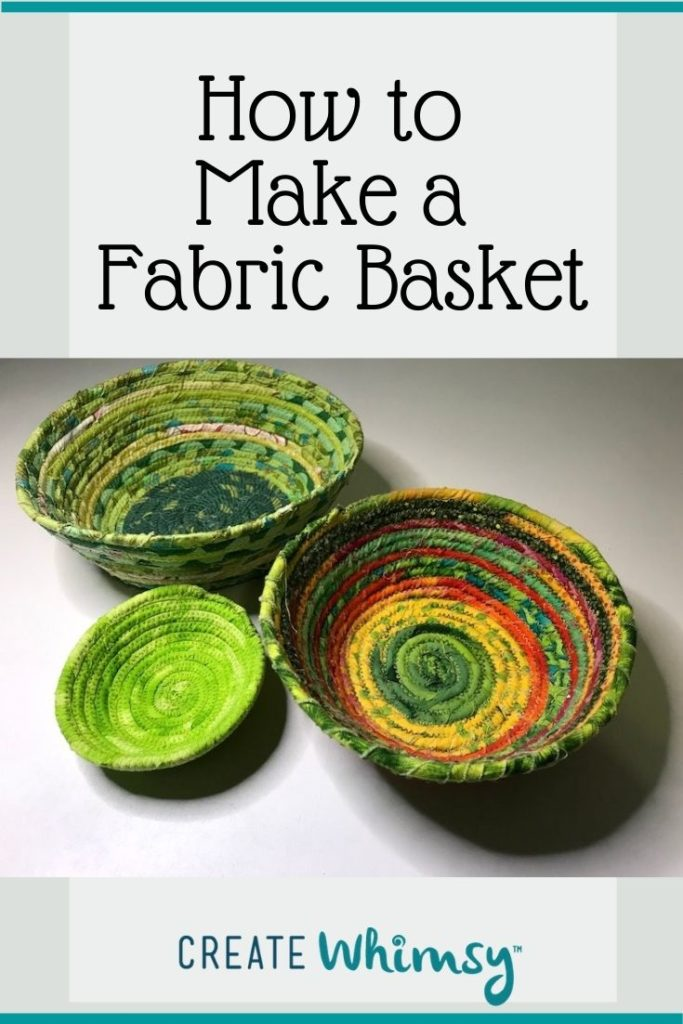 How to make a fabric basket Pinterest 4