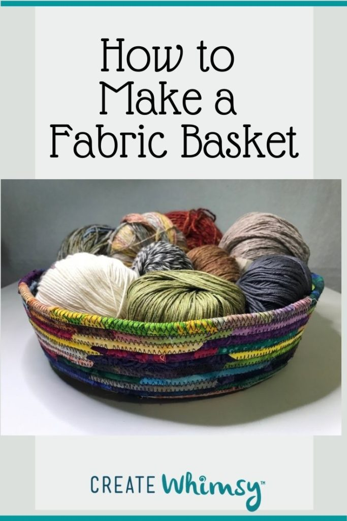How to make a fabric basket Pinterest 5