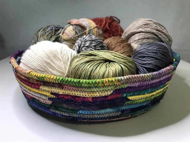 Multicolor large fabric basket