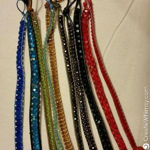 Leather Wrap Bead Bracelets