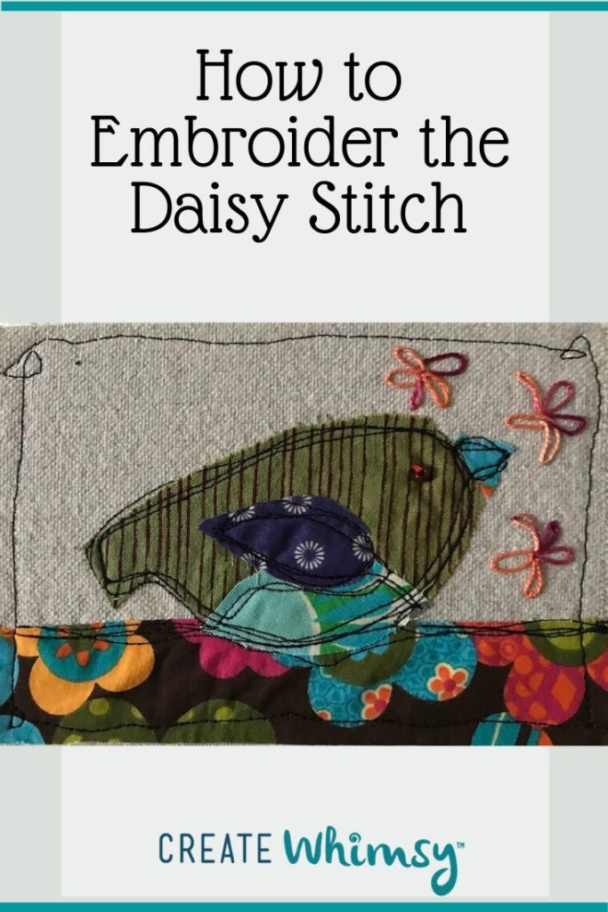 How to Embroider the Daisy Stitch