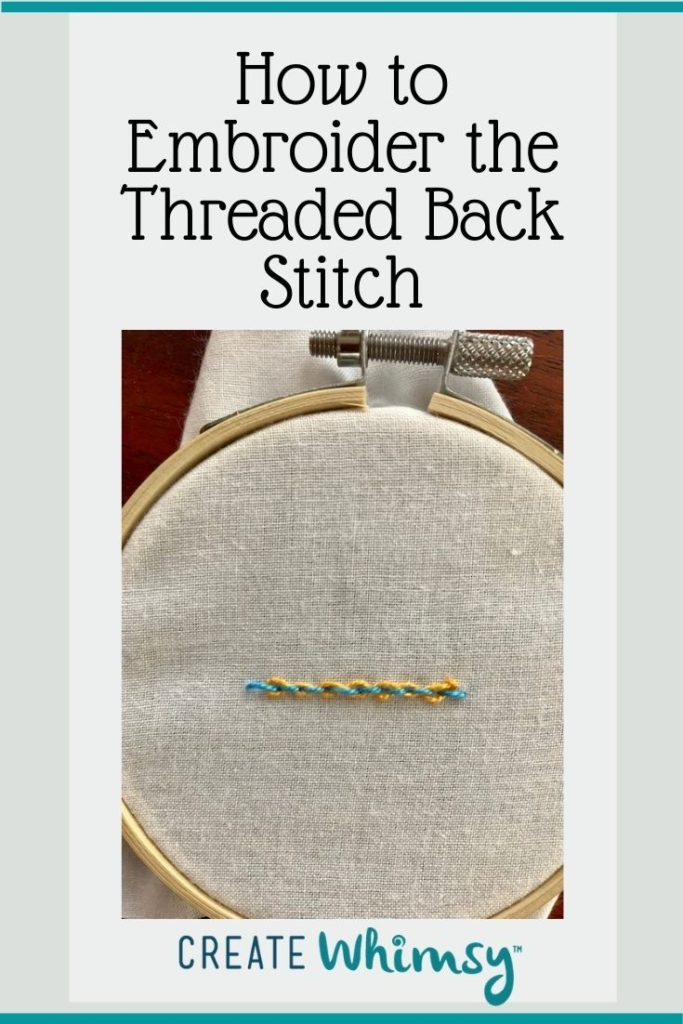 How to embroider the threaded back stitch Pinterest 1