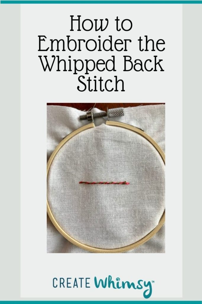 How to embroider the whipped back stitch Pinterest 1