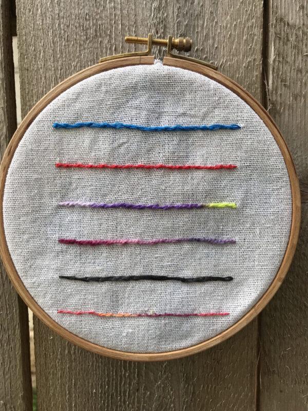 Split Stitch Sampler