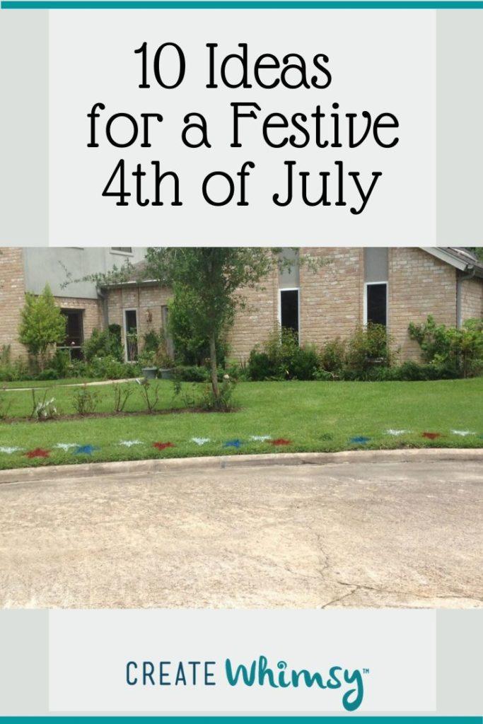 Pinterest Image 4th of July lawn art