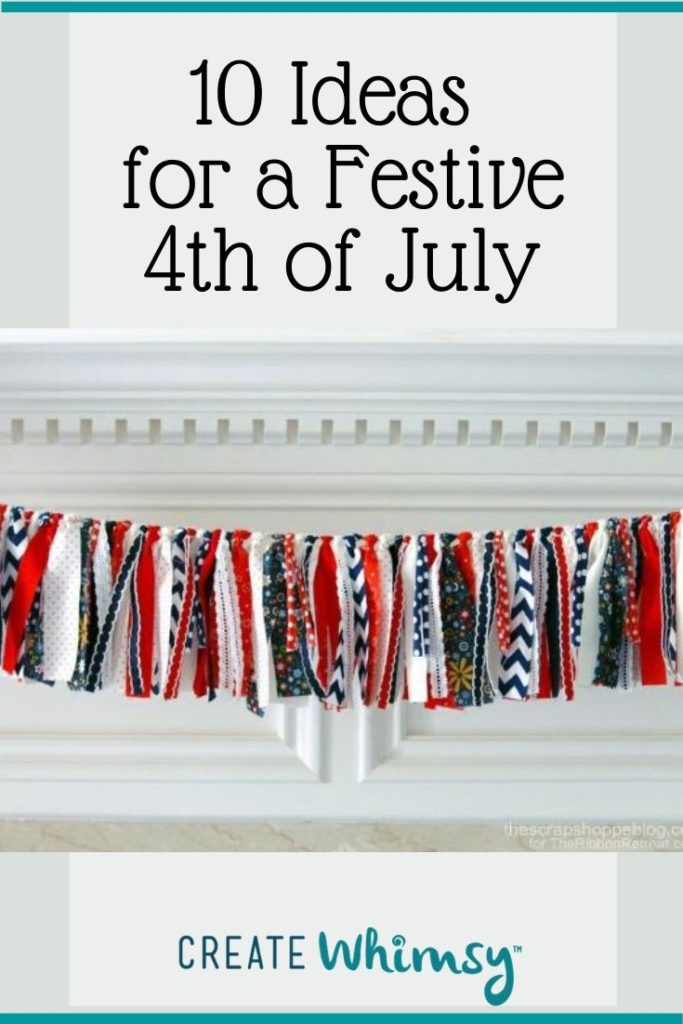 Pinterest Image 4th of July banner