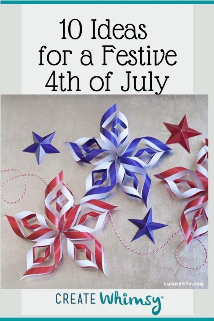 Pinterest Image 4th of July paper pinwheels