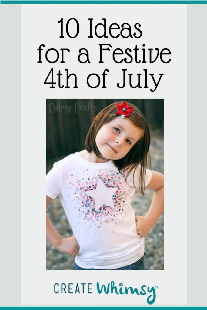 Pinterest image of 4th of July t-shirt