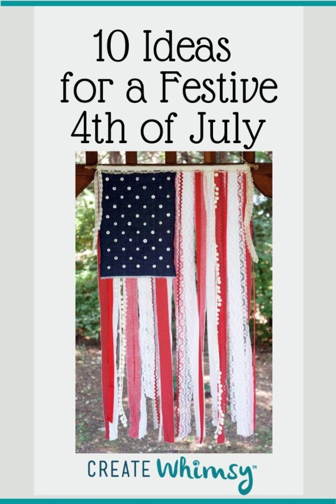Pinterest image 4th of July flag project