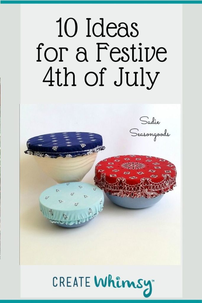 Pinterest Image 4th of July bowl covers
