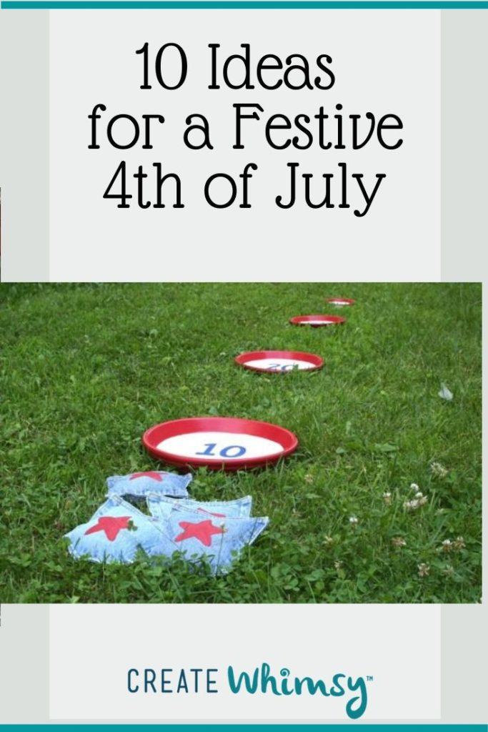 Pinterest Image 4th of July Bean Bag toss game