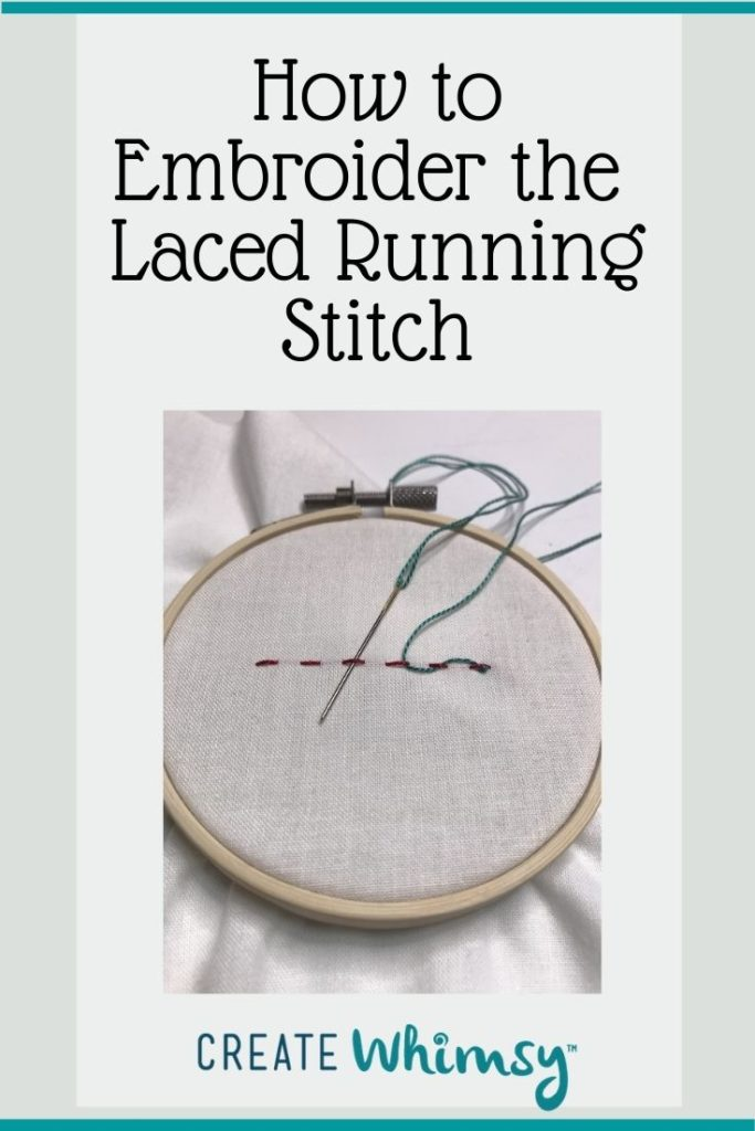How to embroider the laced running stitch Pinterest 1