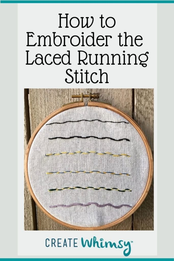 How to embroider the laced running stitch Pinterest 2