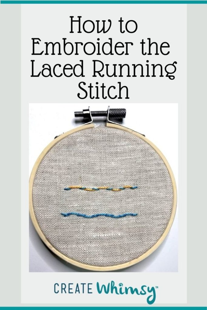 How to embroider the laced running stitch Pinterest 3