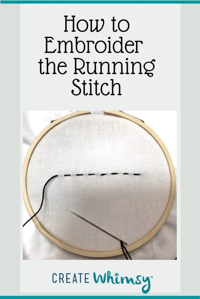 How to embroider the running stitch Pinterest 1