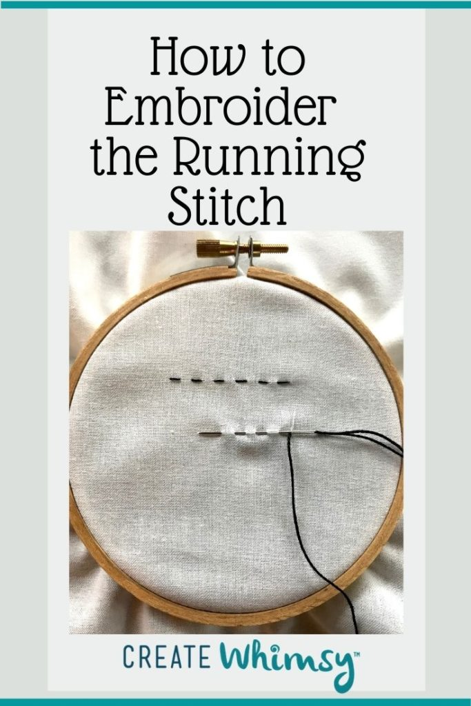 How to embroider the running stitch Pinterest 2