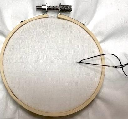 Running stitch start