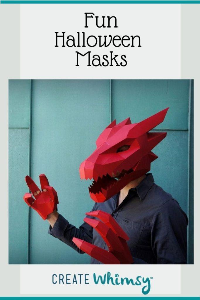 Adult Halloween Mask Pinterest Image 1