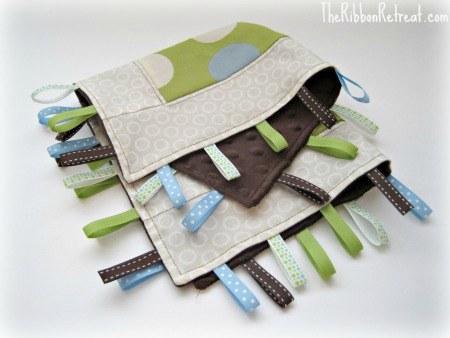 Tag Lovey Blanket