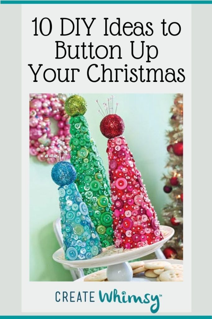 Button Christmas DIY ideas Pinterest image 1