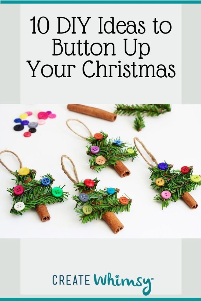 Button Christmas DIY ideas Pinterest image 3