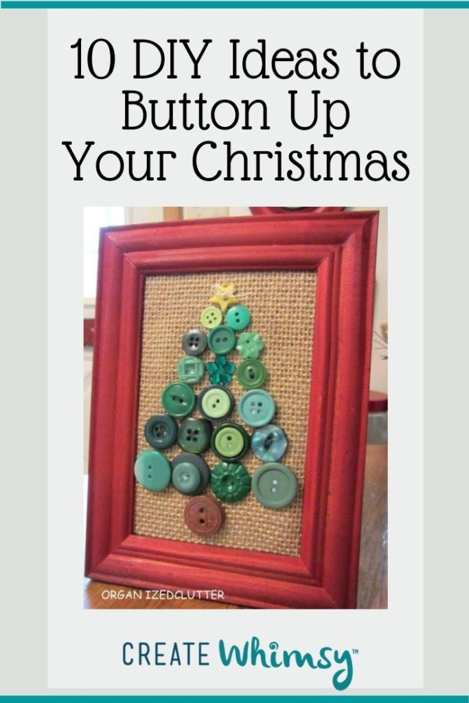 Button Christmas DIY ideas Pinterest image 4