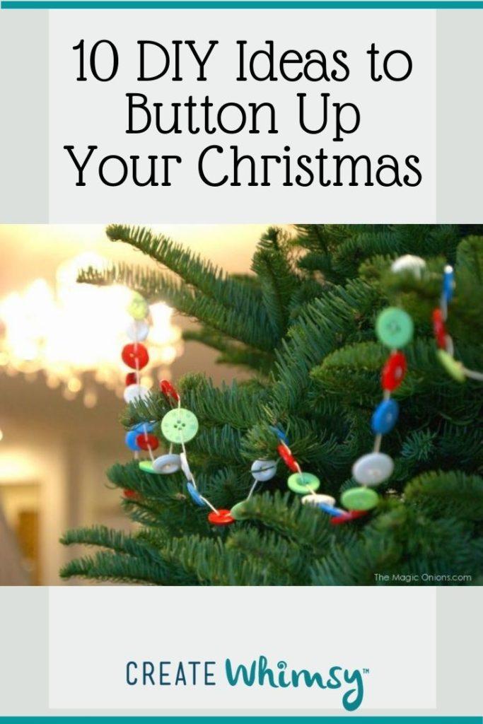 Button Christmas DIY ideas Pinterest image 6