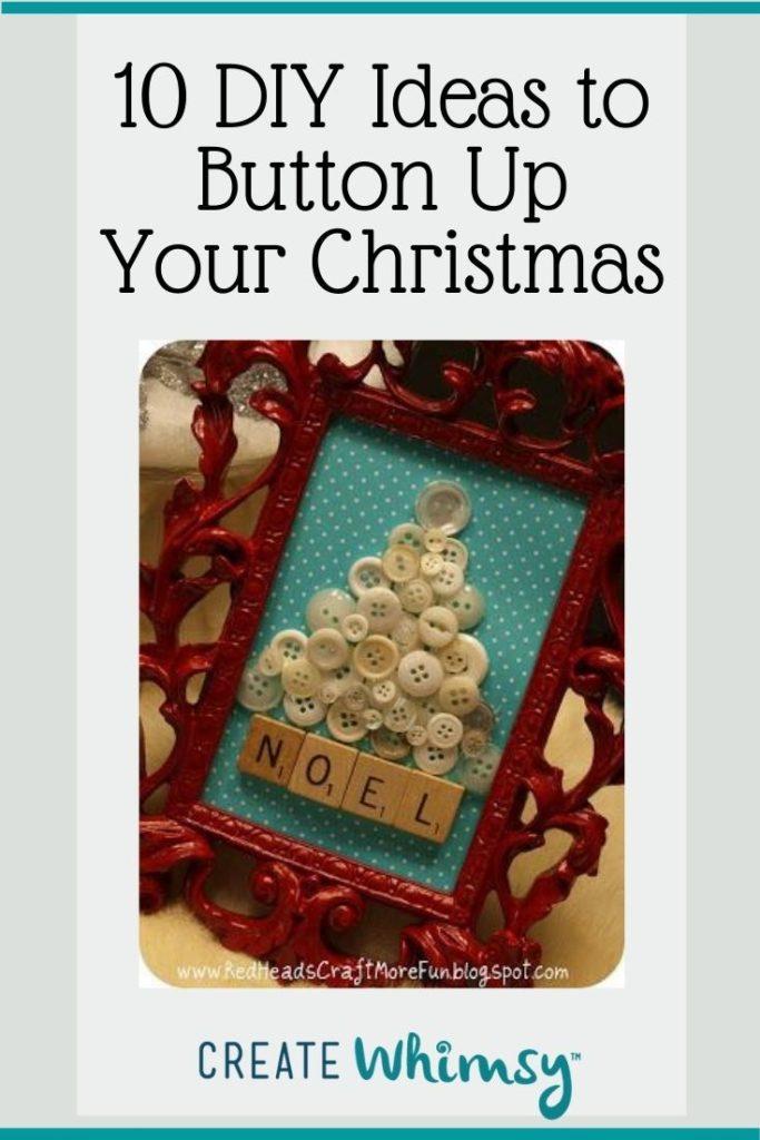 Button Christmas DIY ideas Pinterest image 7
