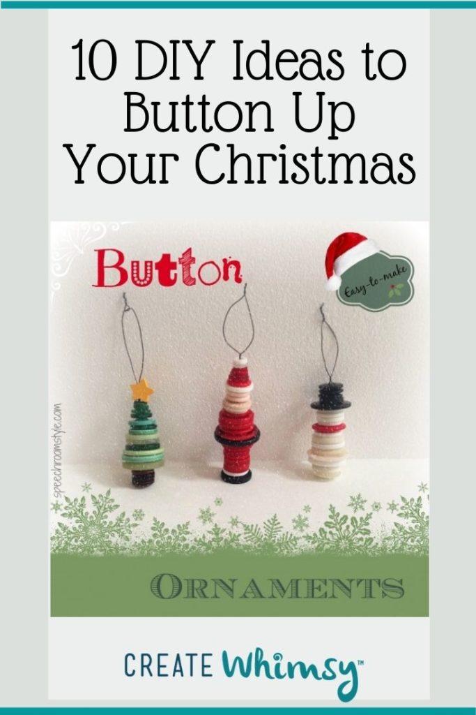 Button Christmas DIY ideas Pinterest image 8