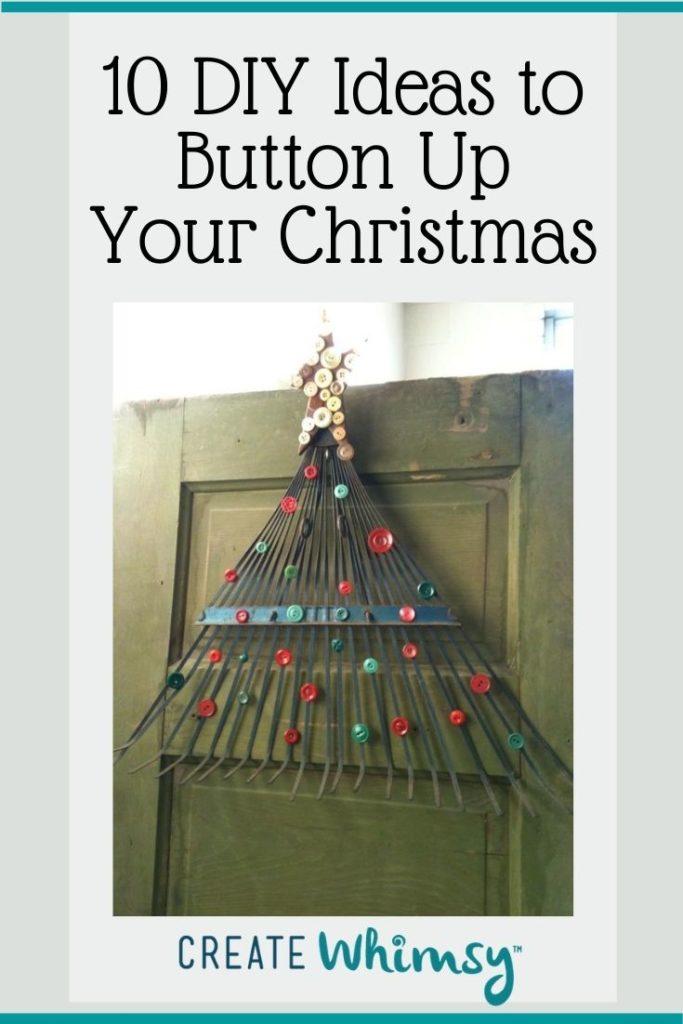 Button Christmas DIY ideas Pinterest image 9