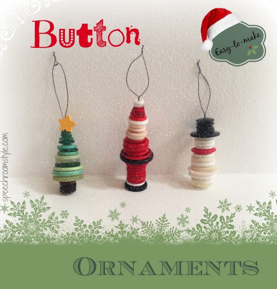 Stacked button christmas ornaments