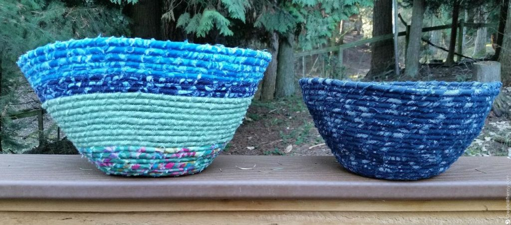 Finished Fabric coil bowls