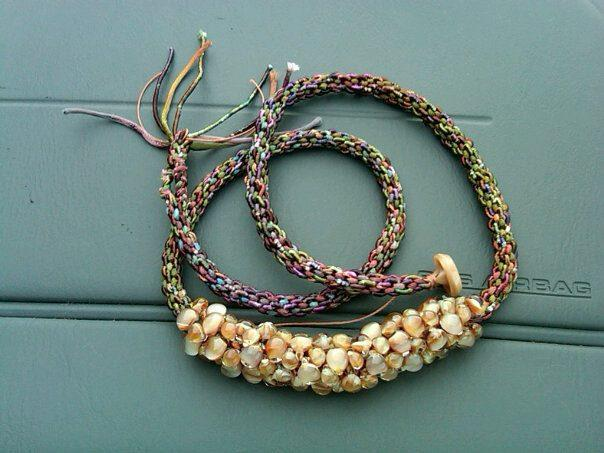 Satin Kumihimo Unicorne Bead Necklace