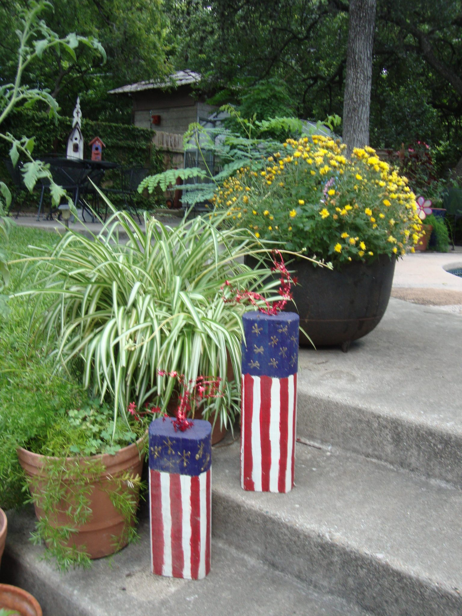Firecrackers made from fence posts