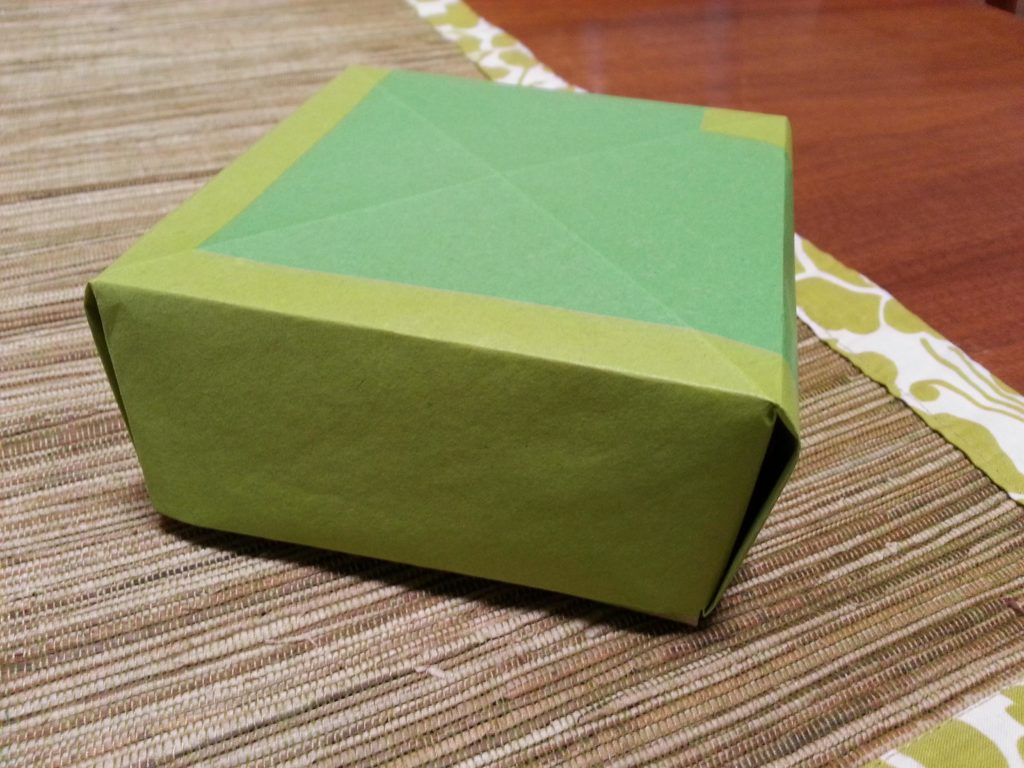 Completed Origami Box with Lid