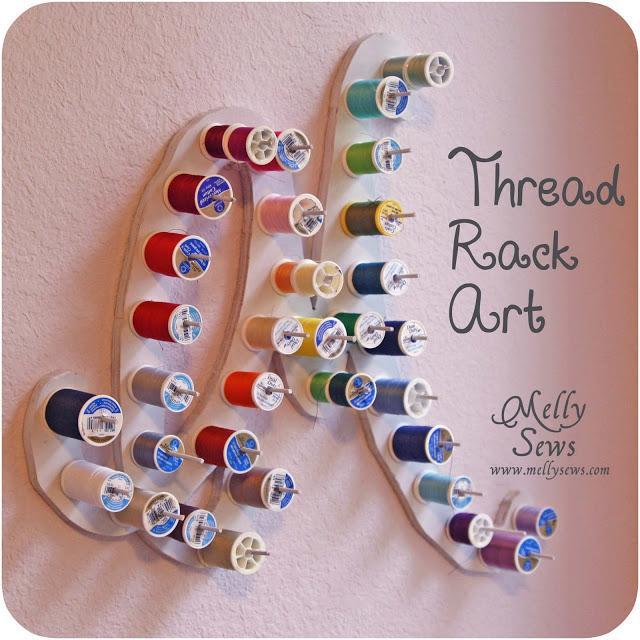 Monogram Thread Rack from Melly Sews