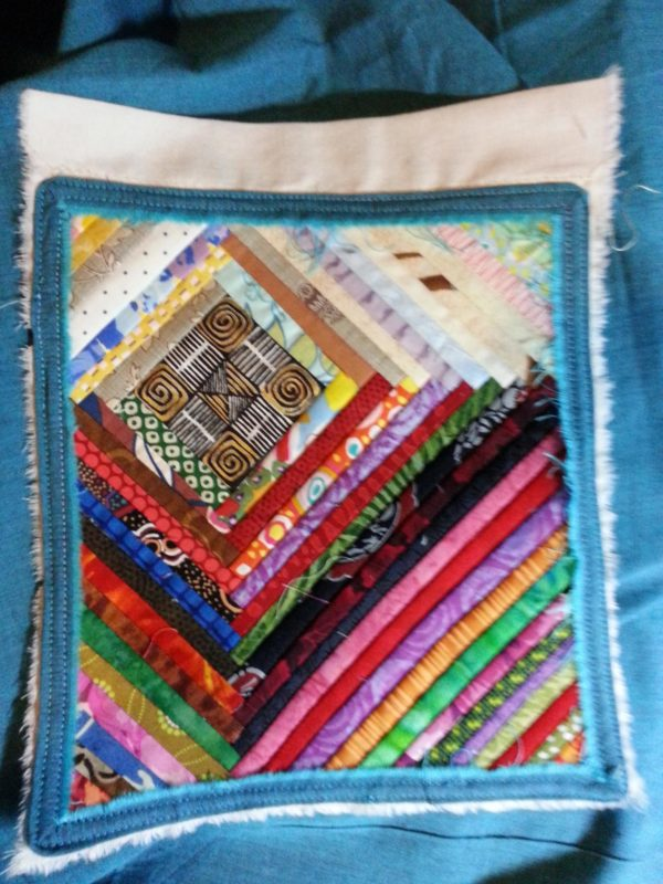 Log cabin prayer flag