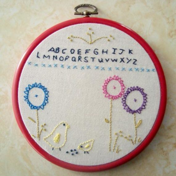 More modern embroidery patterns by Patchwork Posse