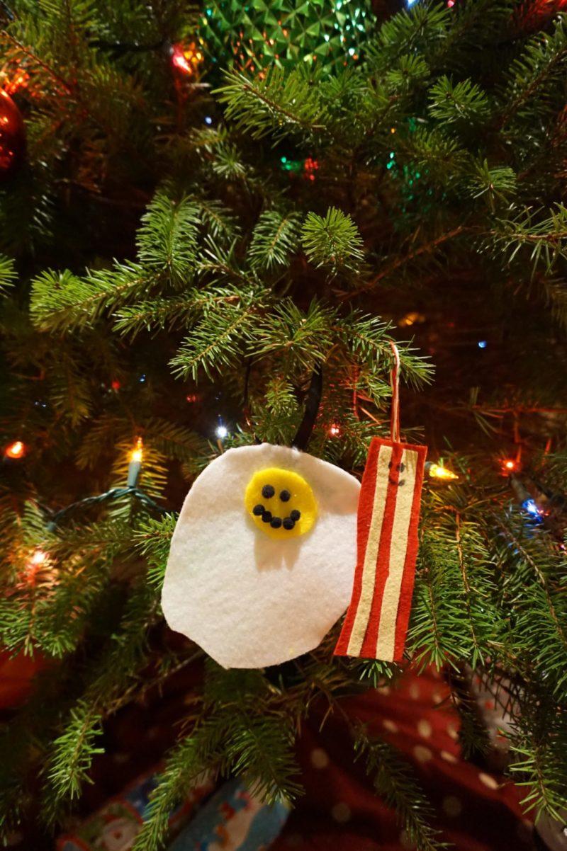 Egg Felt Christmas Ornament