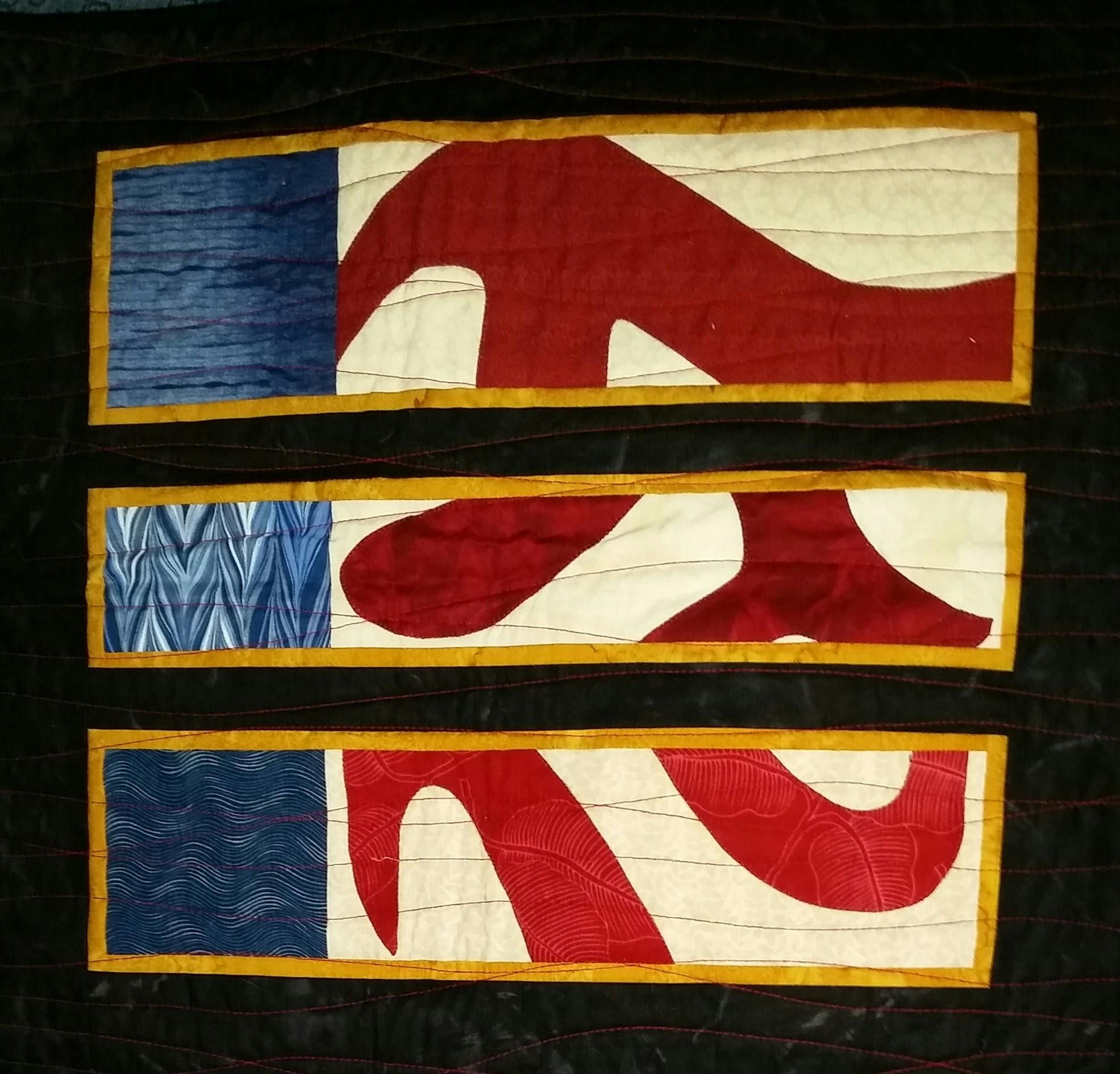 American Pi quilt by Chardel Blaine
