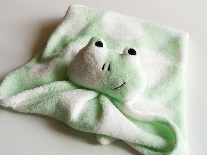 Frog lovey blanket